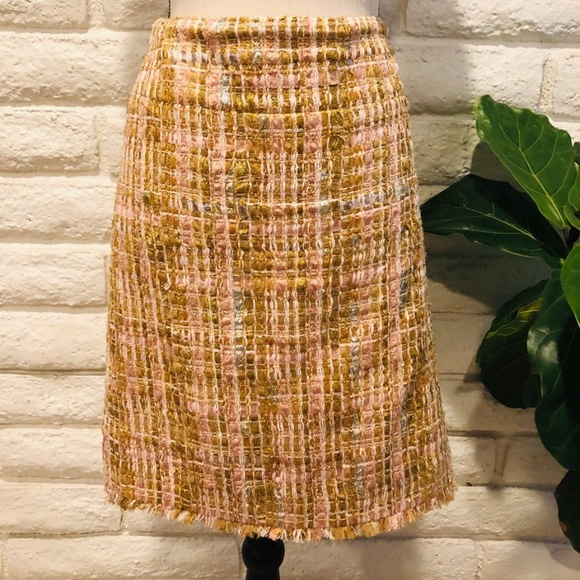 470ffbc5e Chanel Classic Fringed Tweed Skirt Size 44. Listing Price: $225.00